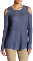 Willow & Clay Cold Shoulder Knit Sweater