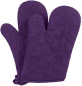"""VEEYOO 100% Cotton Oven Mitts Kitchen Oven Gloves Heat Resistant Terry Oven Mitts 7x12"""""""