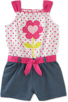 Kids Headquarters Denim Flower Romper, Baby Girls (0-24 months)