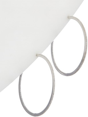 Alanna Bess Limited Collection Silver Cz Classic Hoops