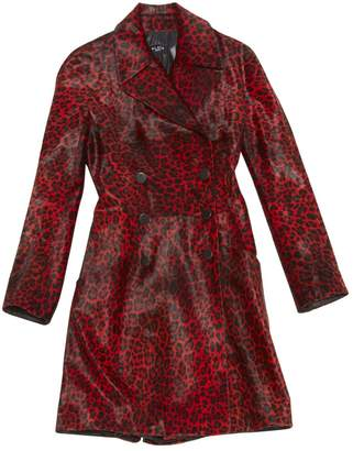 Alaia Red Leather Coats