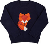 Barneys New York FOX CASHMERE SWEATER