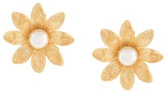 Aurelie Bidermann Primavera daisy pearl earrings