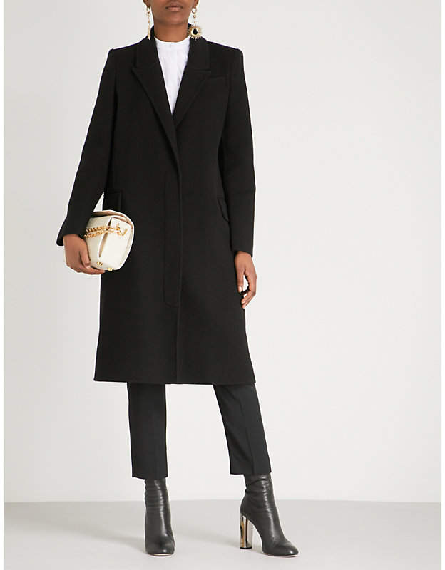 Alexander McQueen Single-breasted wool and cashmere-blend coat