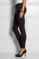 Paige Edgemont coated mid-rise skinny jeans