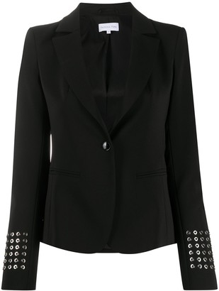 Patrizia Pepe Eyelet-Detail Long Sleeve Blazer