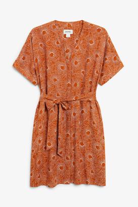 Monki Kaftan mini dress