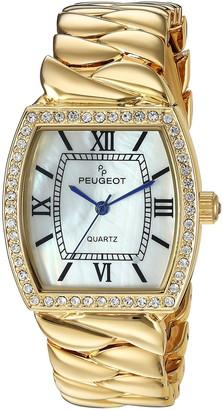 Peugeot Women's Luxury Teardrop Quartz Watch with Stainless Steel Strap Bracelet