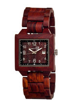 Earth Wood Culm Unisex Red Bracelet Watch-Ethew1003
