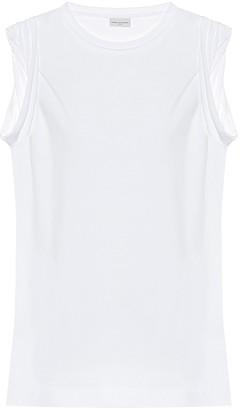 Dries Van Noten Sleeveless cotton T-shirt