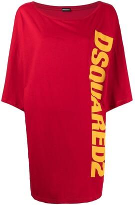 DSQUARED2 logo print maxi T-shirt dress