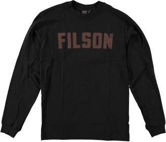 Filson L S Outfitter Graphic T Shirt Faded Black - M / Faded Black