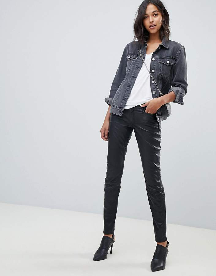 751870461b Leather Skinny Pants For Women - ShopStyle