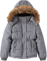 Joe Fresh Kid Girls' Quilted Puffer Jacket, Grey (Size S)