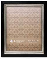 Lawrence Frames 8-Inch x 10-Inch Burnished Silver Inner Picture Frame in Black