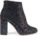Charlotte Olympia Alba Glittered Canvas Ankle Boots - Navy