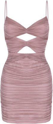Rasario Cutout Silk-Chiffon Mini Dress
