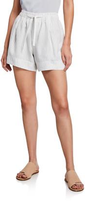 Vince Pencil-Stripe Drawstring Shorts
