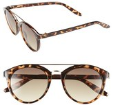 BP Junior Women's Retro 50Mm Round Sunglasses - Brown Tort