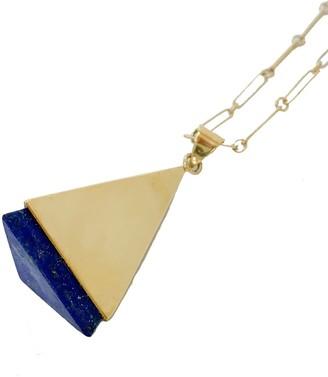 Artisan & Fox Ziba Pendant Necklace In Lapis Lazuli