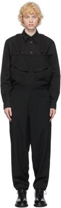 Yohji Yamamoto Black Wool Overalls
