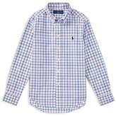 Polo Ralph Lauren Boys' Plaid Stretch Cotton Shirt - Big Kid