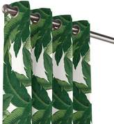 Loom Decor Grommet Outdoor Curtain Be Leaf It - Palm