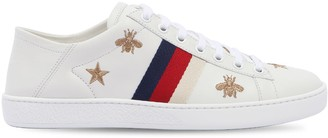 Gucci New Ace Embroidered Leather Mule Sneaker