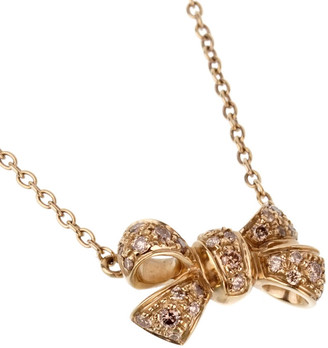 Pomellato 18K 5.70 Grams 0.32 Ct. Tw. Diamond Fancy Bow Necklace