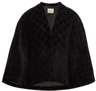 Gucci Gg Velvet Cape - Womens - Black