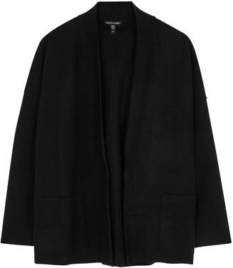 Eileen Fisher Black boiled wool jacket