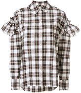 Sjyp stripe frill sleeve blouse - women - Cotton/Polyester/Rayon - XS