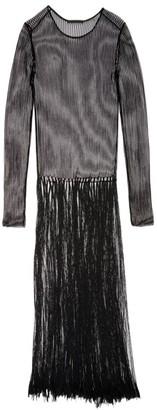 Helmut Lang Fringe Mesh Maxi Dress