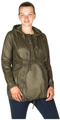 Modern Eternity Ciara 3-in-1 Waterproof Maternity Windbreaker (Light Pink) Women's Clothing