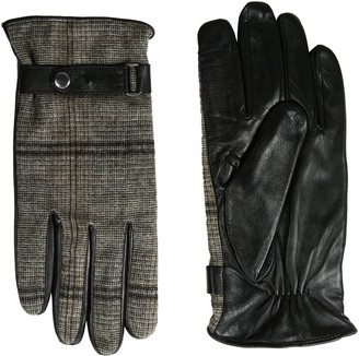 GII Men's Tweed and Fine Leather Touchscreen Gloves