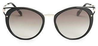 Prada 54MM Cutout Cat Eye Sunglasses