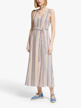 Boden Livia Sleeveless Striped Maxi Dress, Multi Stripe