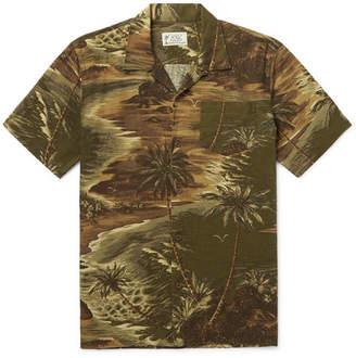 Ralph Lauren RRL Slim-Fit Camp-Collar Printed Linen-Blend Shirt
