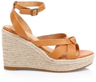 Soludos Charlotte Knotted Leather Platform Sandals
