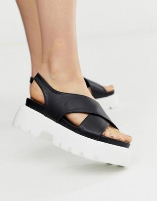 Park Lane chunky heeled sandals-Black