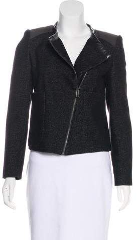 Zadig & Voltaire Leather-Trimmed Knit Jacket