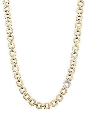 Roberto Coin 18K Yellow and White Gold Mini Diamond Pois Moi Collar Necklace, 16
