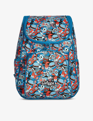 Smiggle Illusion Reflective Access food-print woven backpack
