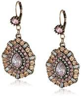 Betsey Johnson Mixed Pink Faceted Bead Teardrop Earrings