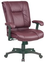 Office Star Products Ex93814 Managerial Mid-back Chair, 28 In.x28-3/4 In.x42-1/4 In., Burgundy