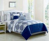 6 Piece Heidi Denim Blue Reversible Comforter Set King