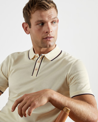 Ted Baker CHIPS Textured cotton polo top