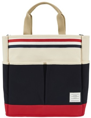 Thom Browne Tote bag with tricolor band