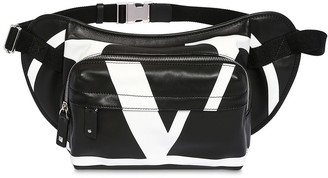 Valentino Vlogo Print Leather Belt Bag