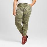 Ava & Viv Women's Plus Size Utility Pant Camo Print